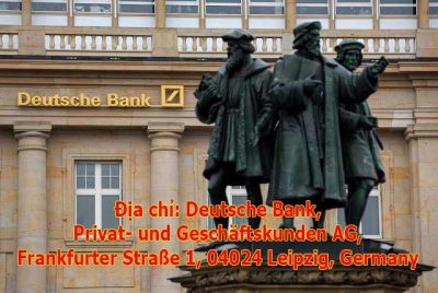 Gửi đơn đăng ký mở tài khoản du học Đức - Deutsche Bank đi đến địa chỉ yêu cầu