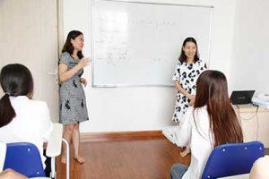 Lớp học tiếng Đức phục vụ cho du học tại Trung tâm tư vấn du học Helifsa