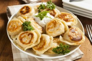 Món bánh Pierogies của Ba Lan rất nổi tiếng