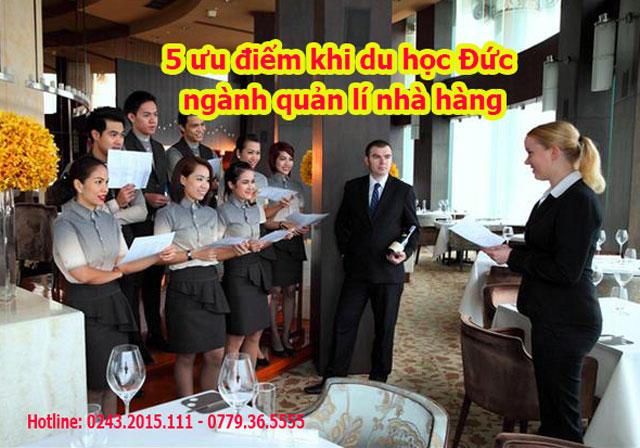 ưu điểm khi du học đức ngành quản lí nhà hàng