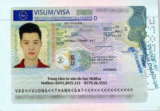 Visa đi du học nghề Đức của học viên Vương Thành Đạt